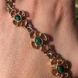 """Avon gold green bracelet 8"""""""